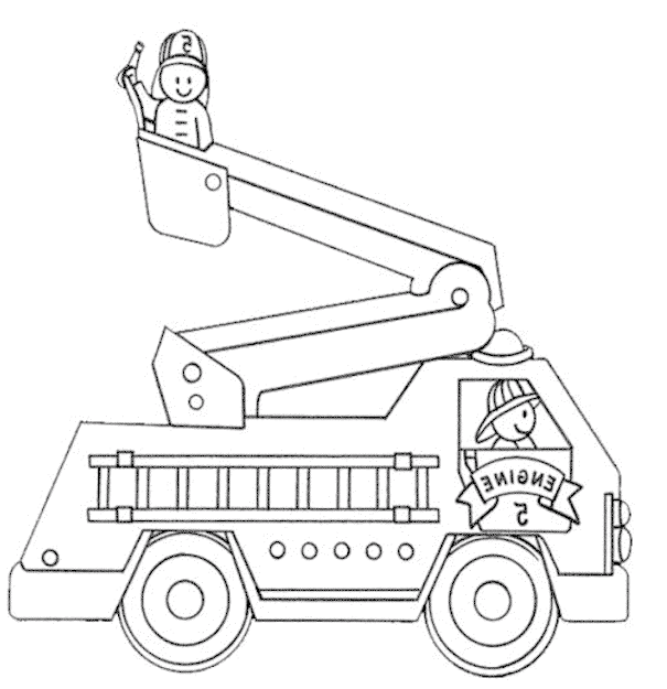 Lego City Fire Coloring Pages