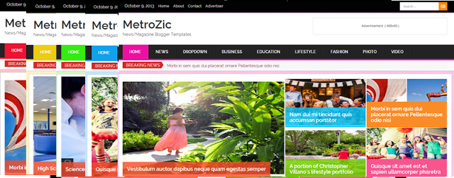MetroZic Responsive Blogger Template
