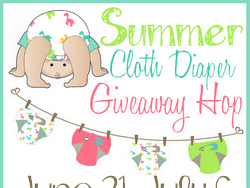 Celebrate Summer Cloth with Buttons Diapers