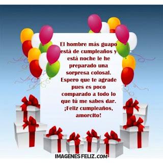 Imágenes de feliz cumpleaños para hombres gratis. Tarjetas con mensajes y frases largas para descargar. Amorcito