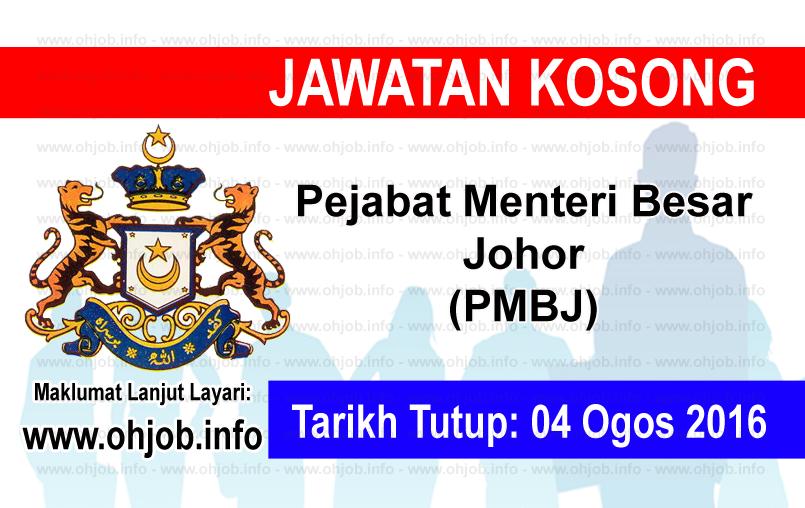 Jawatan Kerja Kosong Pejabat Menteri Besar Johor (PMBJ) logo www.ohjob.info ogos 2016