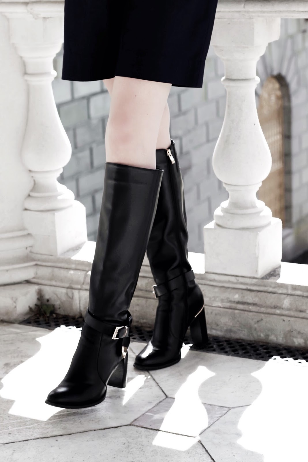 Fashion Blog Leather Knee High Boots Styling