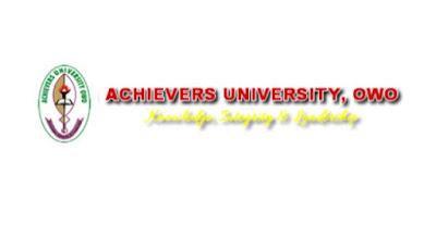 Achievers University, Owo 2017/2018 [UTME/DE] Admission Form