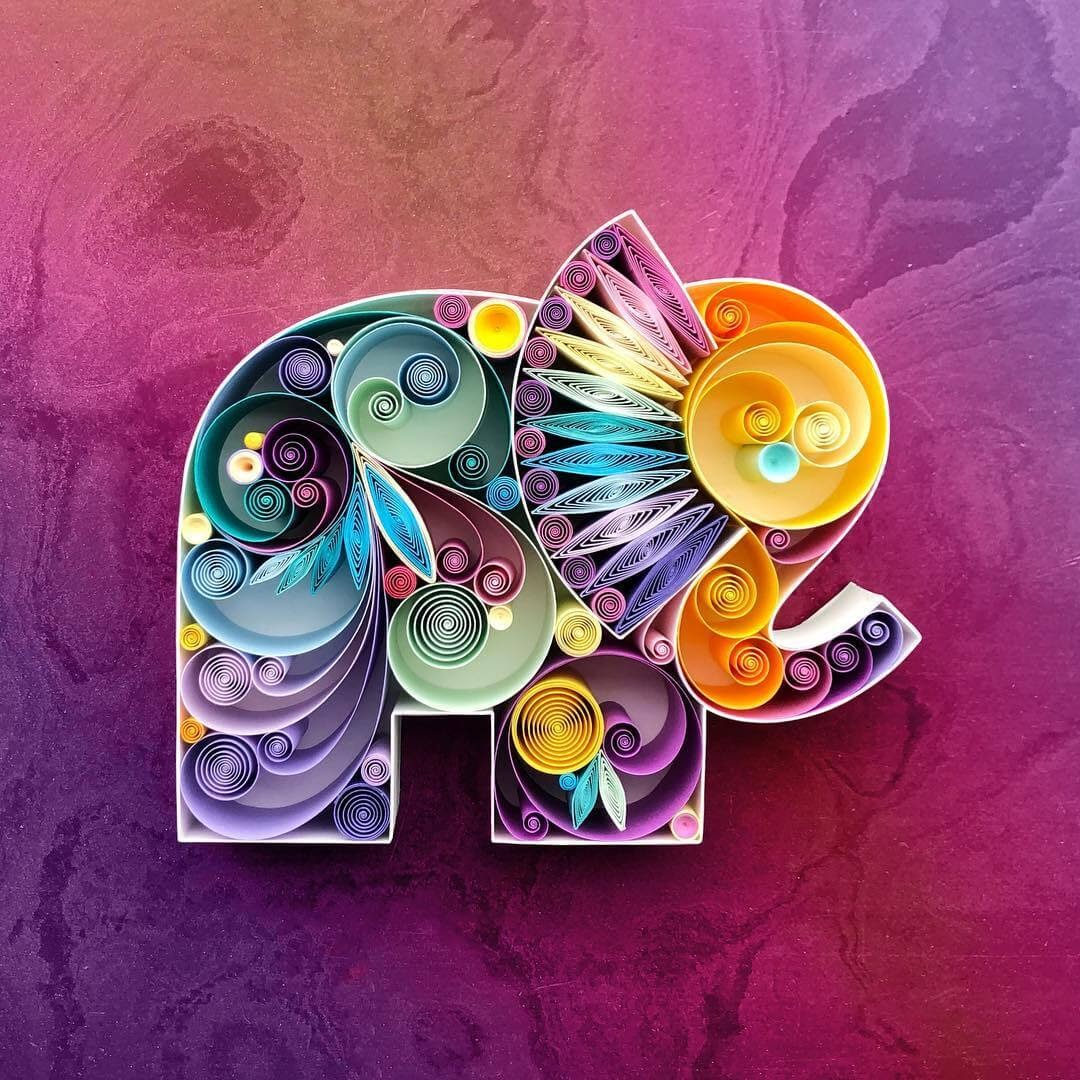 06-Elephant-Sena-Runa-Quilling-Art-Animals-and-Objects-www-designstack-co