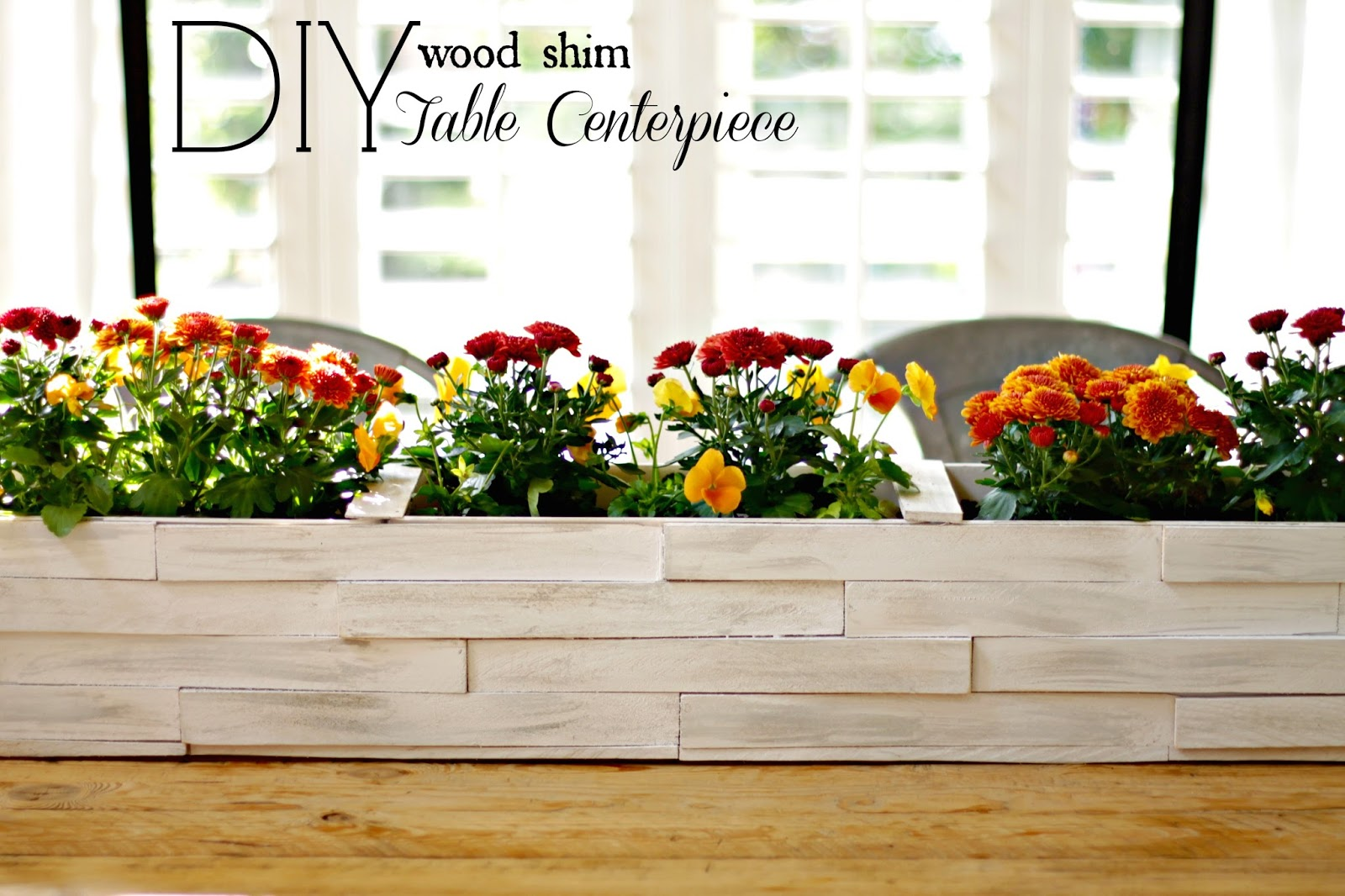 Tabletop Wood Shim Planter Box Infarrantly Creative