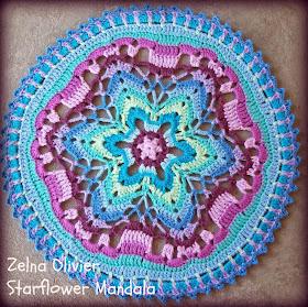 Zooty Owl S Crafty Blog Starflower Mandala Pattern