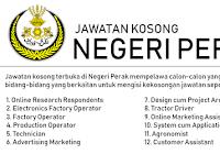 Jawatan Kosong di Negeri Perak - Gaji RM1,200 - RM3,800