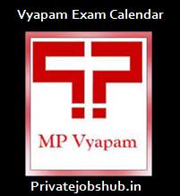 Vyapam Exam Calendar