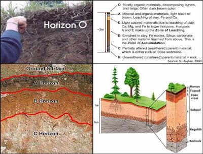 urutan susunan lapisan tanah