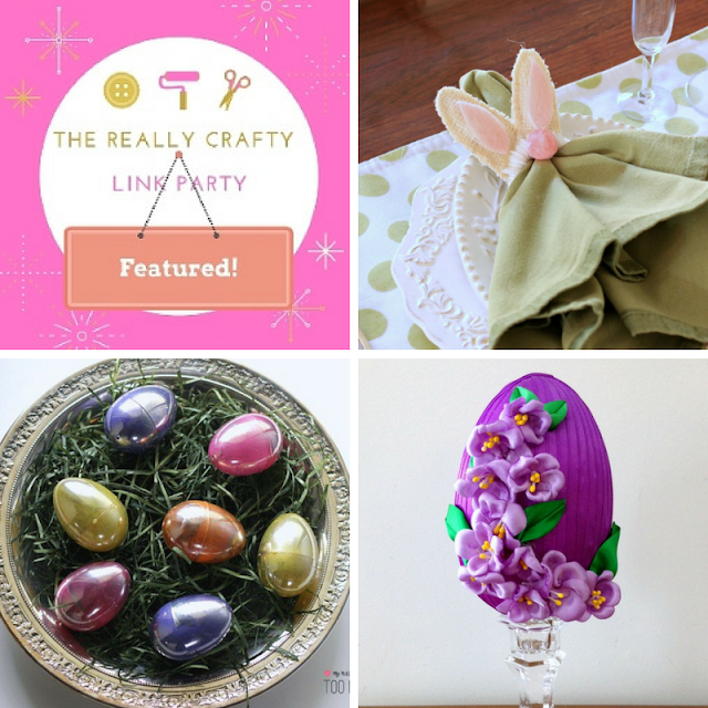 The Really Crafty Link Party #61 featured posts!