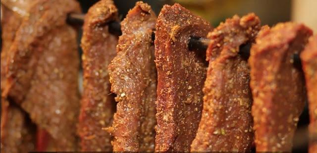 Thịt trâu gác bếp - Đặc sản Sơn La