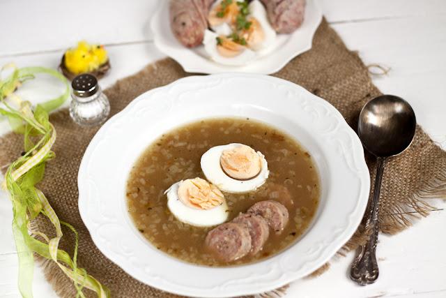 zupa wielkanocna, wielkanocna zupa chrzanowa