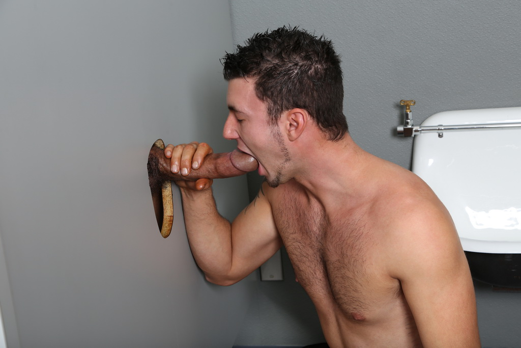 Glory hole bondage gay sex once inside he