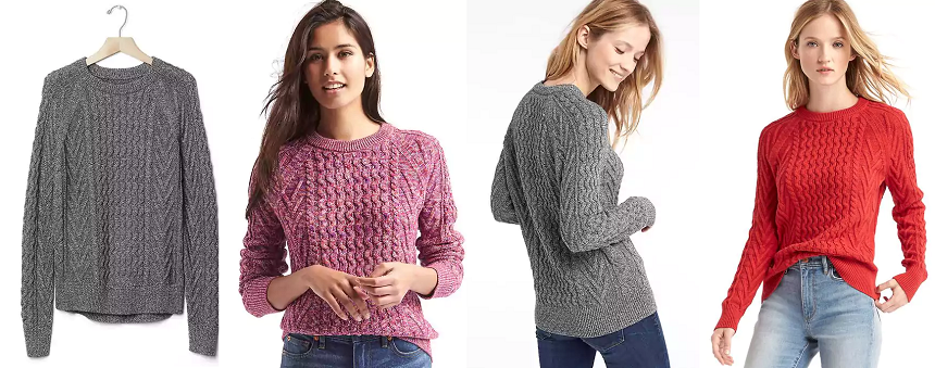 Gap Wavy Cable Knit Sweater $10-$21 (reg $60)