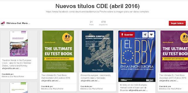 Nuevos títulos ingresados en abril en el CDE.