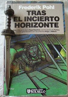 Portada del libro Tras el incierto horizonte, de Frederik Pohl
