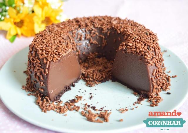 receita Brigadeirão fácil (Pudim de chocolate)