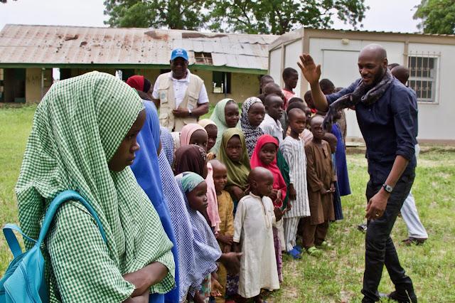 2Baba Visits IDP Camps In Maiduguri Ahead Of Upcoming Concert