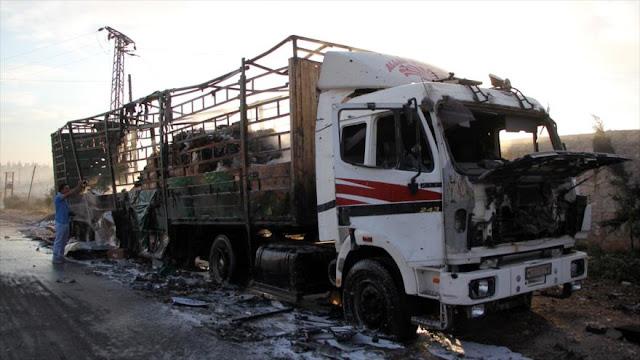 Moscú responde a EEUU: Ni rusos ni sirios atacaron convoy de ONU