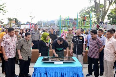 Gubernur Ridho Ficardo Resmikan Taman Bermain Anak Lampung Elephant Park