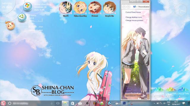 Windows 10 Ver. 1703 Theme Shigatsu wa Kimi no Uso by Enji Riz