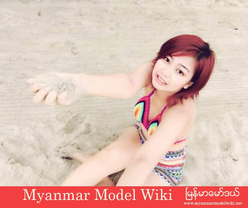 Nwe Nwe Htun In Beach Fashion Outfit Style in Summer of April