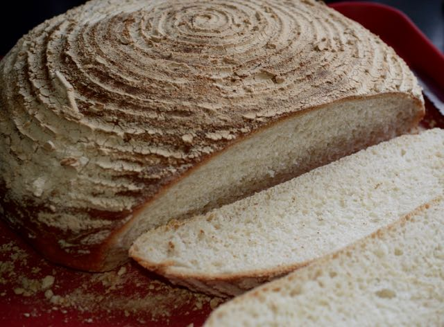 Sliced bread made in a banneton