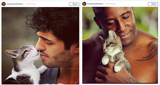 Hot Dudes with Kittens Instagram