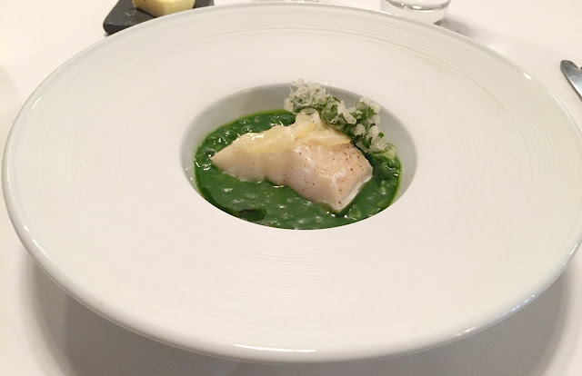 Haddock Risotto and crispy Kale Starter at Jesmond Dene House