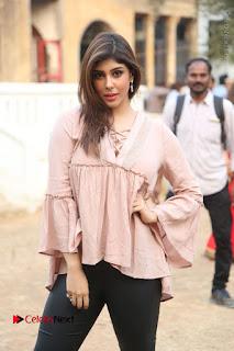 Telugu Actress Aditi Singh Stills in Leather Pants at Nenu Kidnap Iyanu Movie Press Meet  0045.JPG