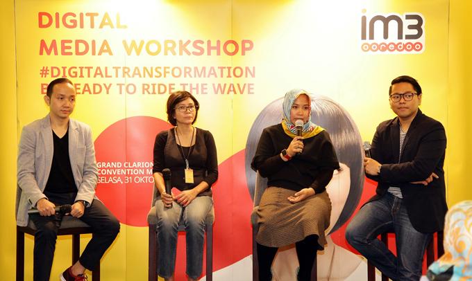 IM3 Ooredoo Gelar Workshop Transformasi Digital Media di Makassar