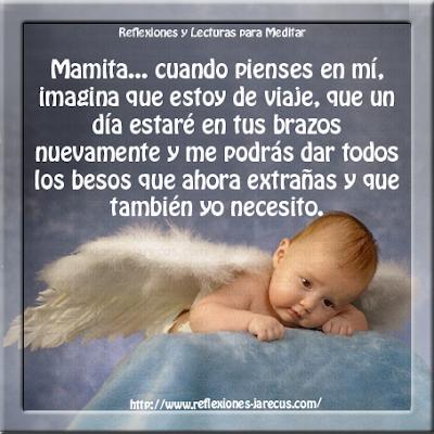 El día amaneció triste mamita querida, hoy ya no estoy contigo, Dios ha querido llevarme junto a Él.