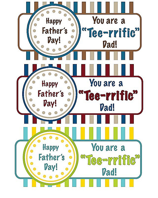"Father's Day ""Tee-rrific"" Gift Idea!"