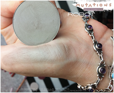 review ROBOT  swatches ombretto - Collezione Mutations -Neve cosmetics