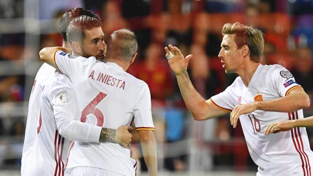 España sigue firme rumbo a Rusia 2018 hoy golearon a Liechtenstein