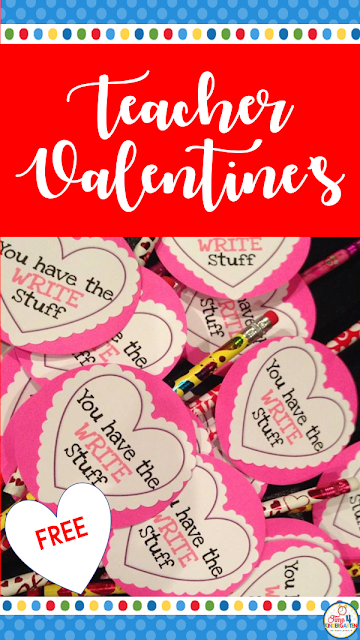 Teacher Valentines for Students- Free easy valentines with pencil to make and give to your students