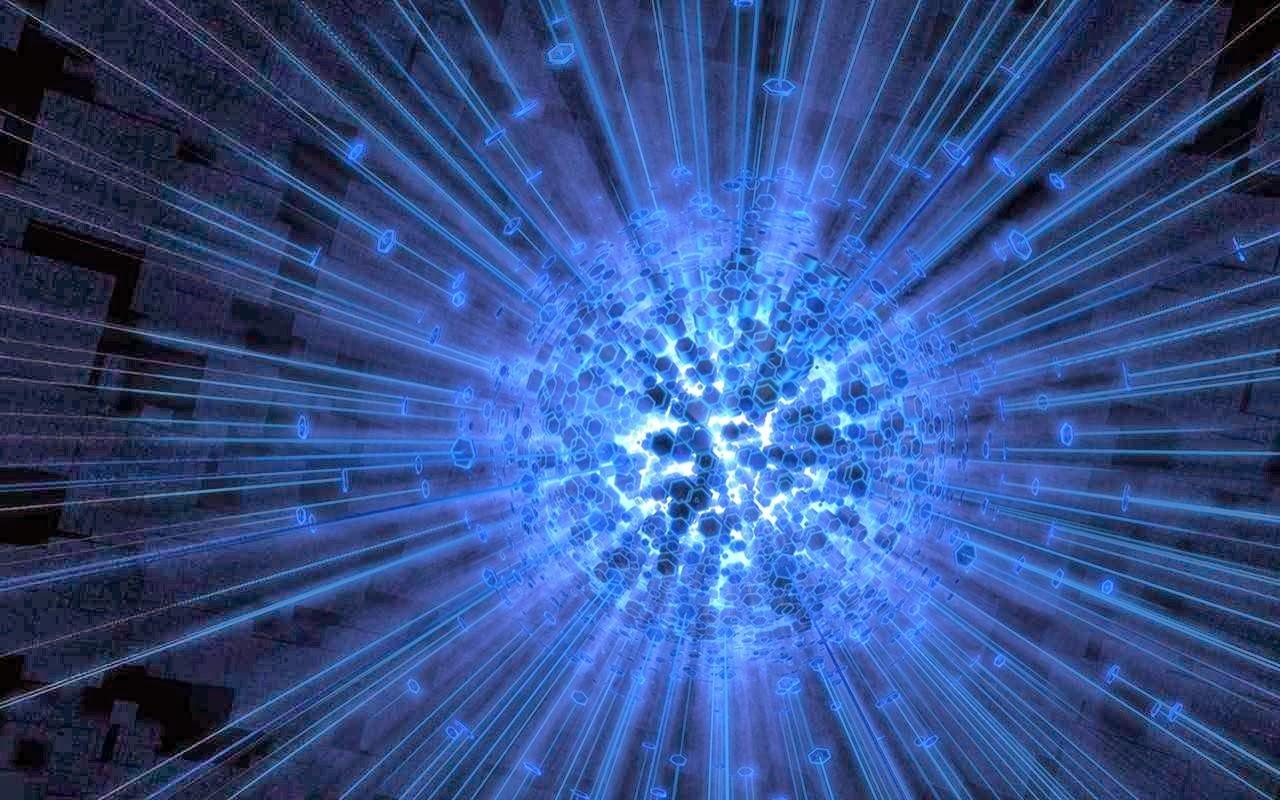 Fondo De Pantalla Abstracto Bolas Azules: Fondo De Pantalla Abstracto Bola Energia Azul