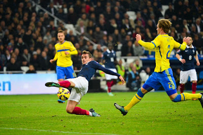 Francia contra Suecia en el grupo A de la eliminatoria Europa Rusia 2018