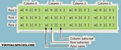 Two Dimensional Array Table