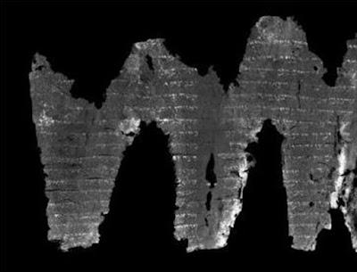 «Άνοιξαν» και διάβασαν αρχαίο τυλιγμένο και καμένο χειρόγραφο