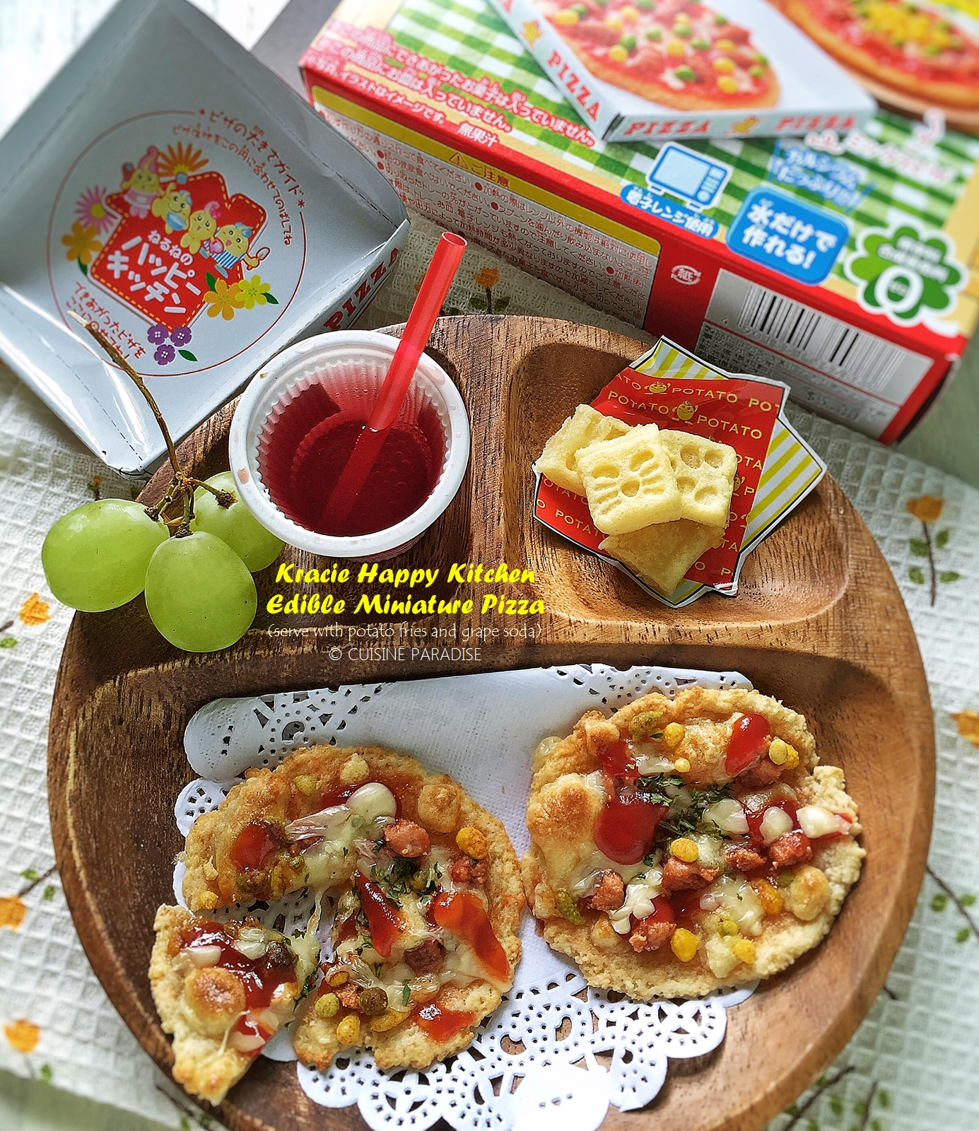 Cuisine paradise singapore food blog recipes reviews and recipe video kracie happy kitchen edible miniature pizza kit forumfinder Images
