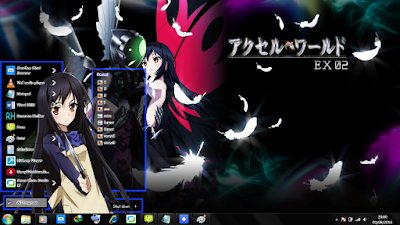 Theme Anime Windows 7 Kuroyukihime from Accel World 2