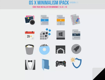 icon biru minimalis untuk windows 7 8 10
