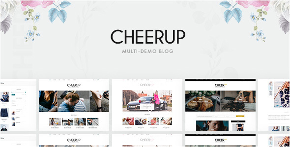 CheerUp - Multi-demo WordPress Blog Theme