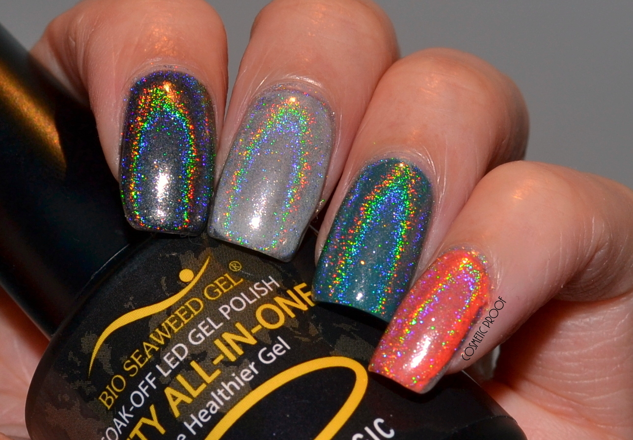 NAILS   Born Pretty Holographic Rainbow Powder Review   Cosmetic ...