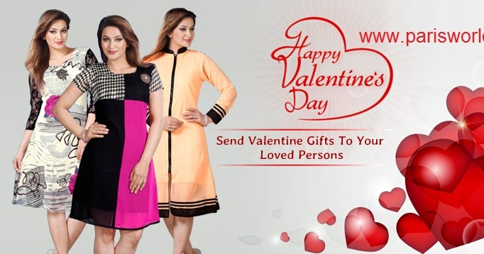 valentine day kurtis online shopping collection in surat | buy, Ideas