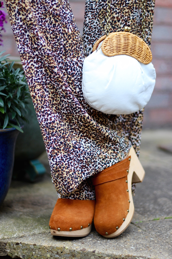 Fake Fabulous | 6 ways to fake a waist | Leopard print jumpsuit and clogs, over 40.