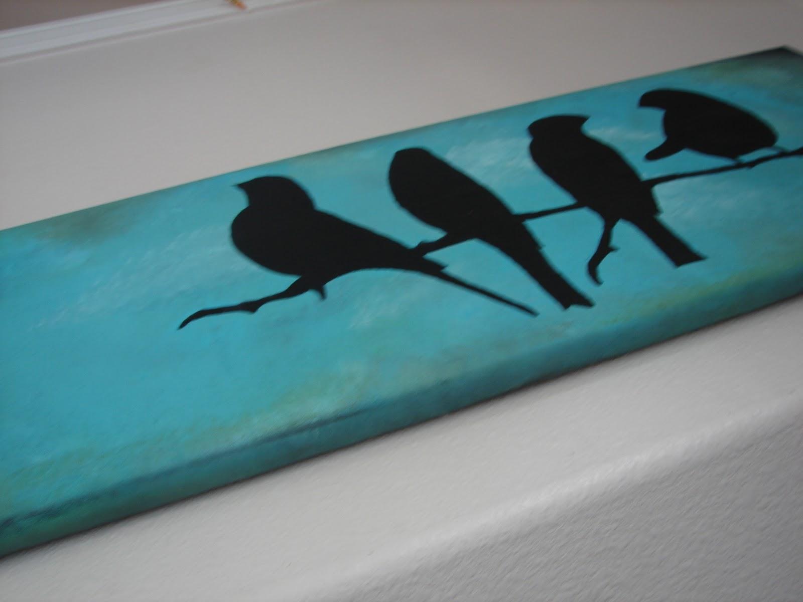 Blue Canvas Art Diy: A Girl And A Glue Gun: Diy Your Own Canvas