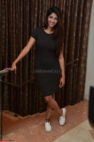 Priya Vadlamani super cute in tight brown dress at Stone Media Films production No 1 movie announcement 036.jpg