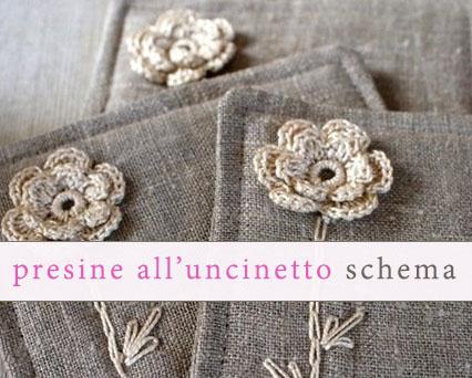 Relasé Presine Alluncinetto Con I Fiori Schema Gratis